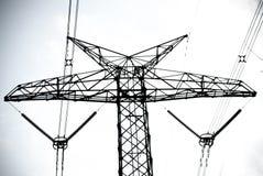 De torens van de hoogspanningstransmissie Royalty-vrije Stock Foto's