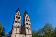 De Torens van de kerk, Koblenz, Duitsland. royalty-vrije stock afbeeldingen