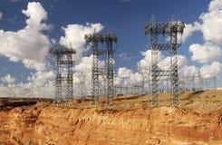 De Torens van de transmissie Stock Foto's
