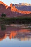 De Torens van de visser en de Rivier van Colorado Royalty-vrije Stock Foto