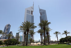 De Torens van emiraten in Doubai Royalty-vrije Stock Afbeeldingen