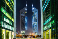 De torens van emiraten, Doubai, de V.A.E Stock Foto's