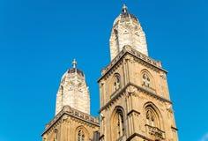 De torens van Grossmunster Stock Afbeelding