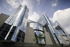De torens van het Europees Parlement - Brussel, België Royalty-vrije Stock Foto