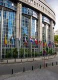 De torens van het Europees Parlement - Brussel, België Stock Foto's