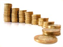 De torens van het geld Stock Afbeeldingen