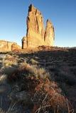 De Torens van het gerechtsgebouw, het Nationale Park van Bogen Stock Foto
