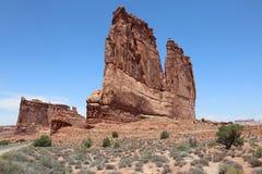 De Torens van het gerechtsgebouw in het Nationale Park van Bogen utah Stock Afbeeldingen