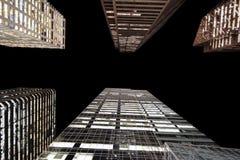 De torens van het glas stock foto
