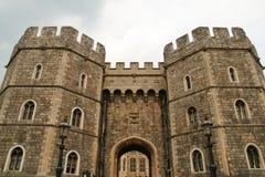 De torens van het Kasteel van Windsor Stock Foto's