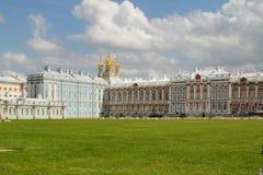 De Torens van het Paleis van Pushkin Stock Foto