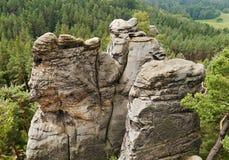 De torens van het rotszandsteen Stock Afbeeldingen
