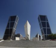 De torens van Kio. Madrid, Spanje Stock Fotografie