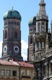 De torens van marien platz Stock Foto