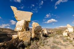 De torens van marmerblokken Stock Foto