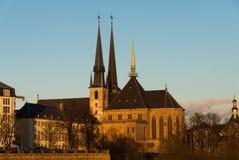 De torens van Notredame cathedral stock fotografie