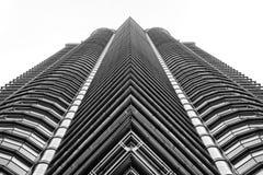 De torens van Petronas in Kuala Lumpur Stock Foto