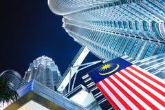 De torens van Petronas in Kuala Lumpur Maleisië Royalty-vrije Stock Afbeeldingen