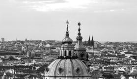 De torens van Praag Historische stad van Praag royalty-vrije stock foto