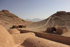 De torens van stilte dichtbij Yazd, Iran Royalty-vrije Stock Foto's