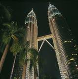 De torens van tweelingen Stock Foto