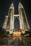 De torens van tweelingen in Malasia Stock Afbeelding