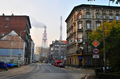 De torens van de Wroclaw thermische installatie Royalty-vrije Stock Afbeeldingen
