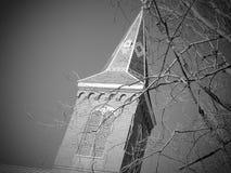 De torenspits van de kerk stock foto's