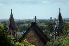 De Torenspitsen van de kerk Stock Foto