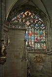 De torenspitsen van Praag Stock Afbeeldingen