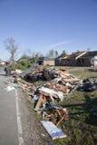 De tornado vernietigt buurt Royalty-vrije Stock Afbeeldingen