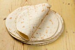De tortilla's van de bloem Stock Afbeelding