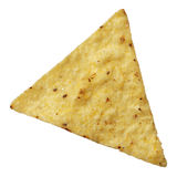 De tortillaspaander van het graan die op wit wordt geïsoleerd Royalty-vrije Stock Foto's