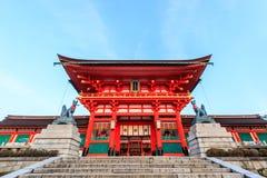 De Torussenpoorten bij het Heiligdom van Fushimi Inari in Kyoto Stock Fotografie