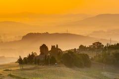 De Toscaanse Scène van het Land Stock Afbeeldingen