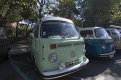 de tossa Mar Spain Wrzesień 17, 2016: Rocznik Volkswagen T w 23rd wolkswagenów klasyków spotykać Obrazy Royalty Free