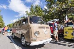 de tossa Mar Spain Wrzesień 17, 2016: Rocznik Volkswagen T w 23rd wolkswagenów klasyków spotykać Obrazy Stock