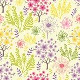 De tot bloei komende achtergrond van het bomen naadloze patroon Stock Afbeeldingen