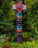 De Totempalen, Stanley Park, Vancouver, BC Royalty-vrije Stock Afbeelding