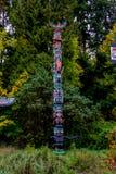De Totempalen, Stanley Park, Vancouver, BC Royalty-vrije Stock Fotografie