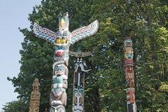 De Totempalen van Vancouver BC royalty-vrije stock afbeelding