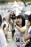 De touristes prenez une photo Images libres de droits