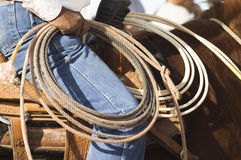 De Touwslager van de rodeo Stock Foto's