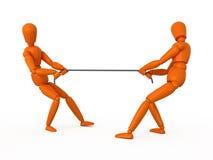 De touwtrekwedstrijd. Stock Afbeeldingen
