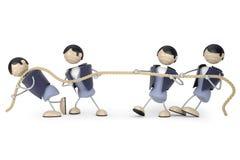 De touwtrekwedstrijd van de mens Royalty-vrije Stock Fotografie