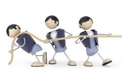 De touwtrekwedstrijd van de mens Stock Afbeelding
