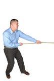 De touwtrekwedstrijd van de zakenman Royalty-vrije Stock Afbeelding
