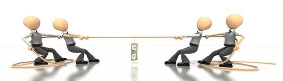 De Touwtrekwedstrijd van het geld Stock Afbeeldingen