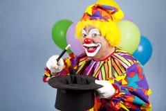 De Tovenaar van de clown stock foto's
