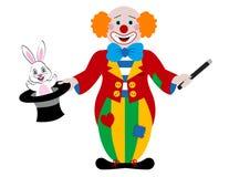 De tovenaar van de clown Stock Illustratie